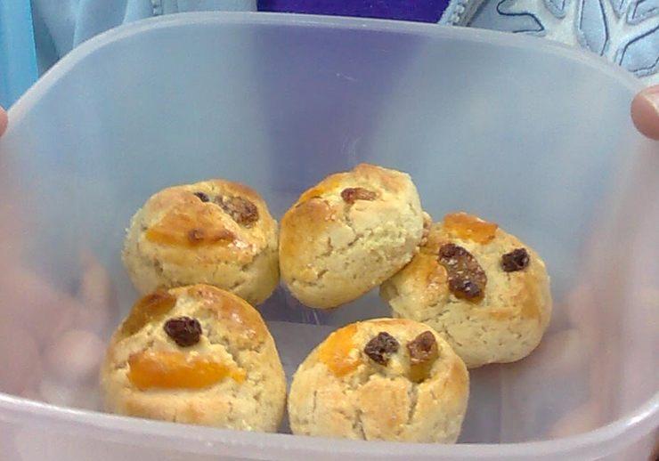 עוגיות פירות יבשים
