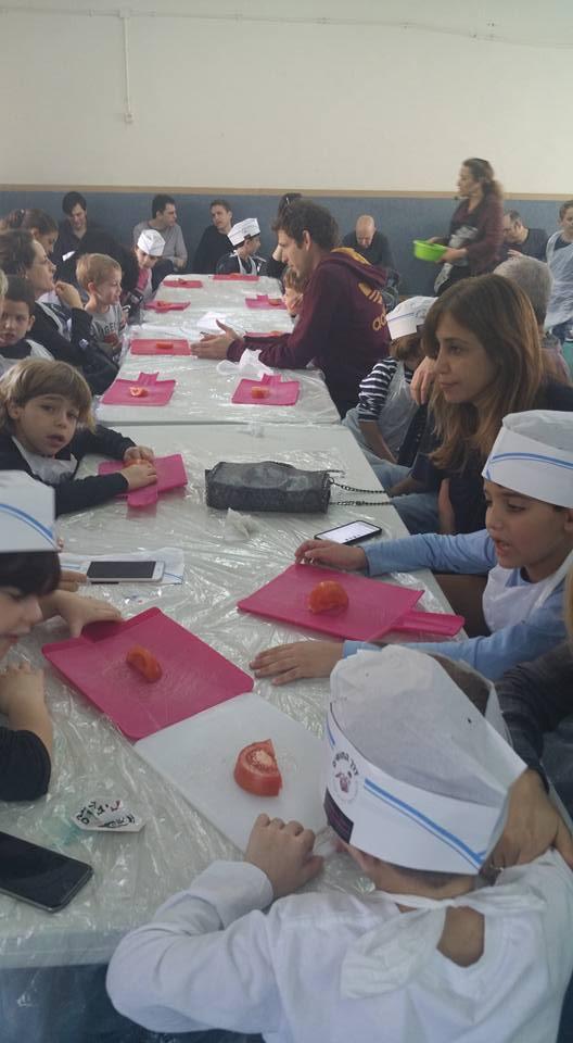 סדנת בישול הורים וילדים, רמת השרון, 2015