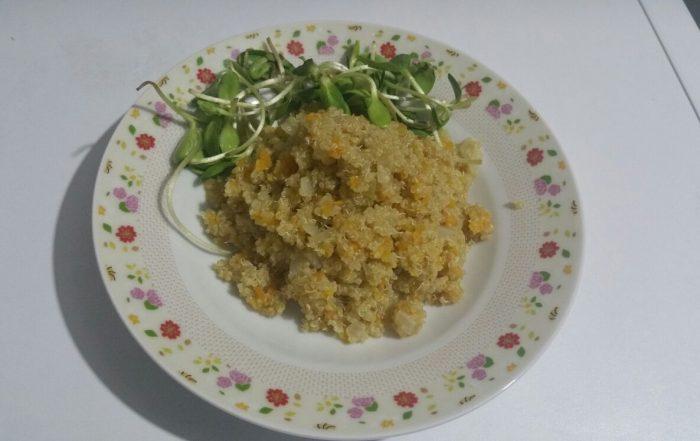 מתכון לתבשיל קינואה עם בטטה - טבעוני