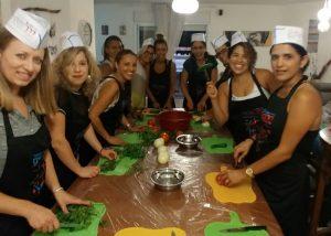 משתתפות סדנת בישול