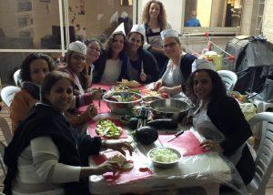 סדנת בישול עם החברות הכי טובות ליום הולדת 40