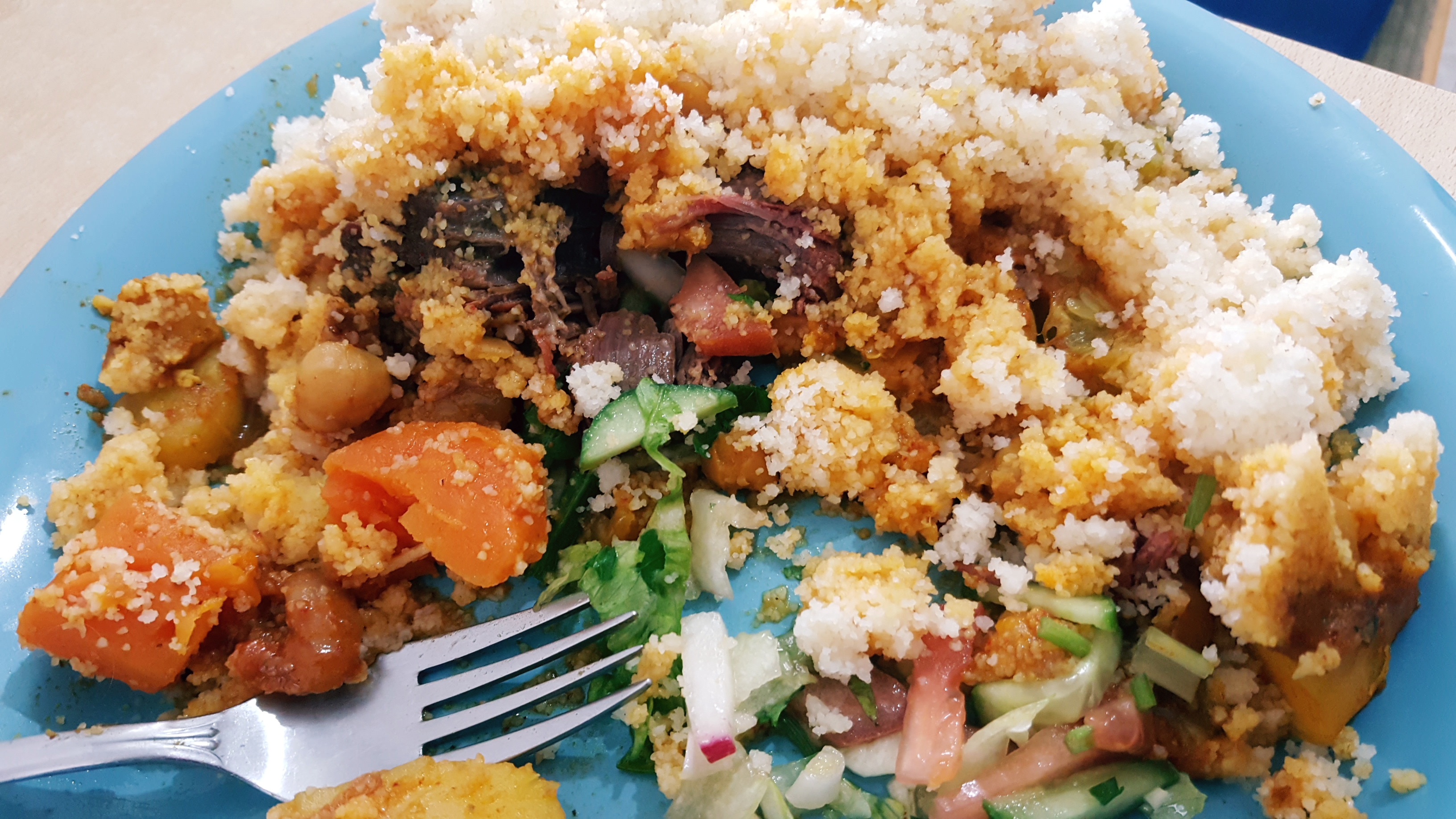 קוסקוס מרוקאי עם סולת וירקות