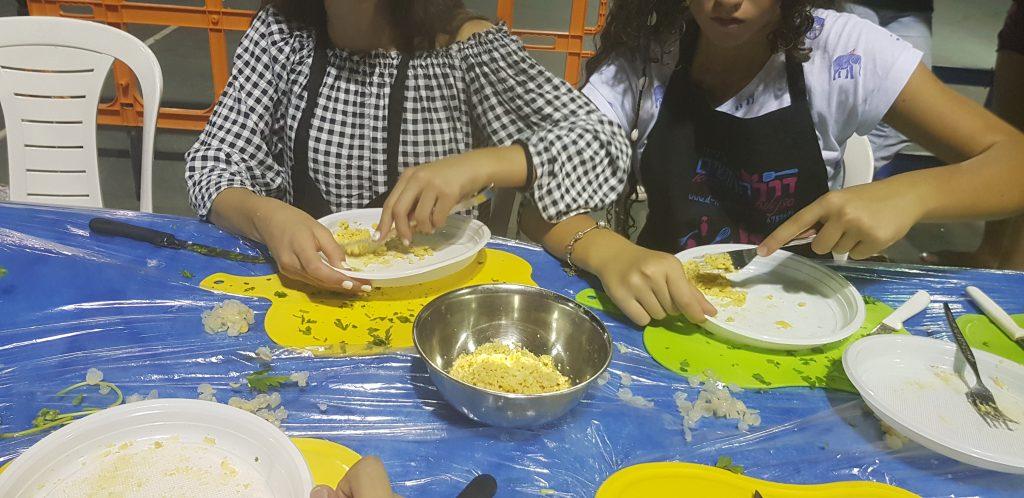 סדנת בישול ישראלית לנוער, נהריה, 2018